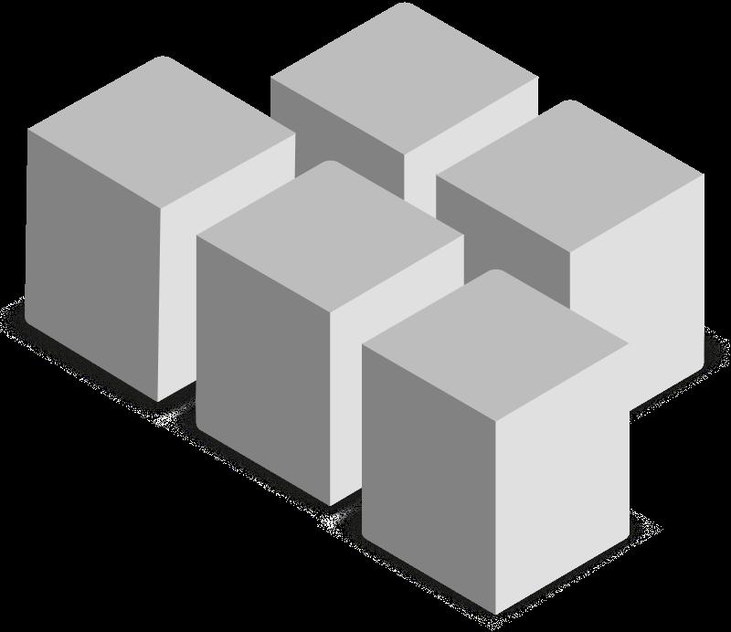 Ilustração de racks/data center